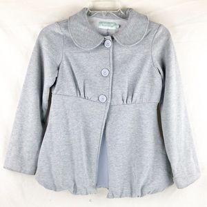 BNWT-Baby Tears Bubble Jacket &collar Heather Grey